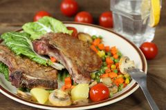Grilled pork chops Royalty Free Stock Images