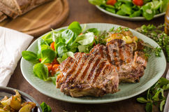 Free Grilled Pork Chops Stock Photography - 97090682