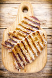 Grilled pork chops pieces. Spices and rosemary. Royalty Free Stock Photos