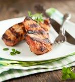 Grilled pork chops. Stock Images