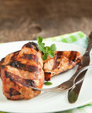 Grilled pork chops. Royalty Free Stock Photo