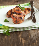 Grilled pork chops. Royalty Free Stock Image