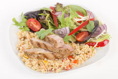 Grilled Pork & Couscous. Stock Photos