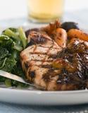 Grilled pork dinner Stock Photography