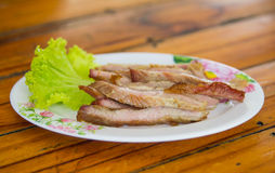 Grilled Pork Dishes Stock Photography