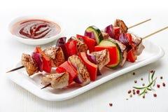 Grilled pork fillet and vegetables Royalty Free Stock Image