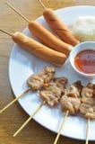 Grilled pork grilled sausage Stock Image