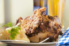 Grilled pork hock Stock Images
