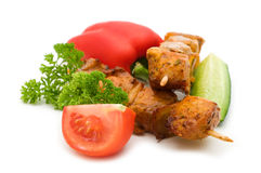 Grilled pork kebabs Stock Photos