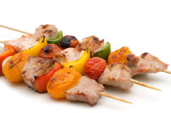 Grilled pork kebabs Royalty Free Stock Photo