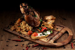 Grilled pork knuckle Royalty Free Stock Photography