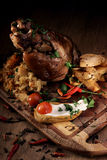 Grilled pork knuckle Royalty Free Stock Photo