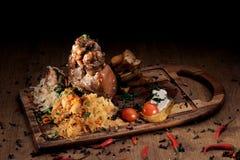 Grilled pork knuckle Stock Images