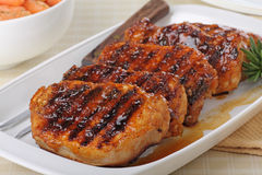 Grilled Pork Loin Royalty Free Stock Photos