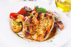 Grilled pork loin chops Stock Image