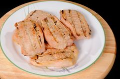 Grilled Pork Loin Steak Royalty Free Stock Photos