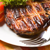 Grilled pork meat Stock Photography