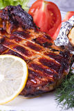 Grilled pork meat Stock Photos