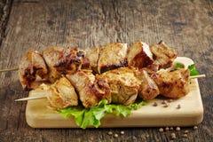 Grilled pork meat kebab Stock Images