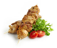 Grilled pork meat kebab Stock Image
