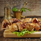 Grilled pork meat kebab Stock Photography