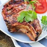 Grilled pork meat Stock Images