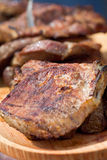 Grilled pork meat steaks Royalty Free Stock Photo
