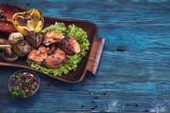 Grilled pork meat royalty free stock photo