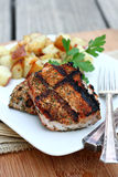 Grilled Pork Medallions Stock Photography