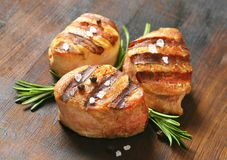 Grilled pork medallions Stock Photos