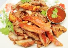 Grilled pork neck Stock Images