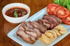 Grilled pork neck Stock Image