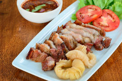 Grilled pork neck Stock Photography