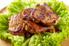 Grilled pork neck Royalty Free Stock Images