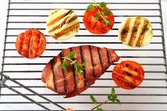 Grilled pork neck steak Royalty Free Stock Photography