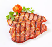 Grilled pork neck steaks Stock Photography