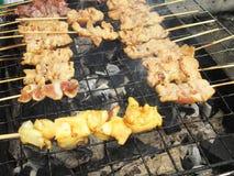 Grilled pork (pork satay) Stock Photo