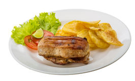 Grilled pork with potato Royalty Free Stock Photography
