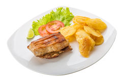 Grilled pork with potato Royalty Free Stock Image