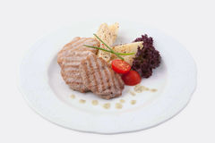Grilled pork with potato Stock Images