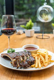 Grilled Pork rib dining table Royalty Free Stock Photo