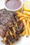 Grilled  Pork ribs Stock Photos