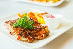 Grilled pork ribs with bbq sauce Royalty Free Stock Photography