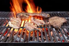 Grilled Pork Ribs, Brisket and Beefsteaks Royalty Free Stock Photo