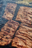 Grilled pork ribs on the grill Stock Images