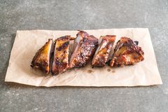 Grilled pork ribs. With barbrcue sauce Stock Photography
