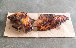 Grilled pork ribs. With barbrcue sauce Royalty Free Stock Image