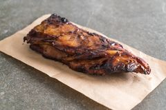Grilled pork ribs. With barbrcue sauce Royalty Free Stock Photography