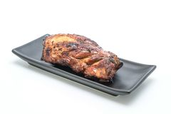 Grilled pork ribs. Isolated on white background Stock Images