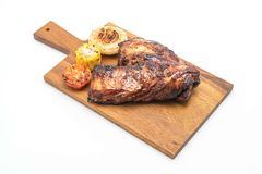 Grilled pork ribs. Isolated on white background Royalty Free Stock Photo